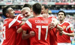 Россия одержала победу в своем первом матче на ЧМ-2018 с разгромным счетом 5:0