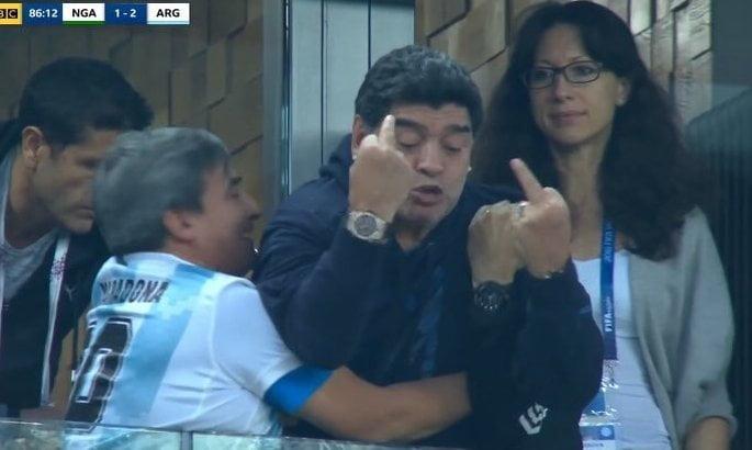 Марадона получает деньги за то, что ходит смотреть футбольные матчи на чемпионате мира